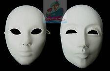 1/2/3/5/10PCS Unpainted DIY plain/blank Masquerade MAN & WOMEN Mask wholesale