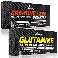 Creatine Monohydrate + Glutamine 60-180 Caps. Muscle Development Anabolic Pills