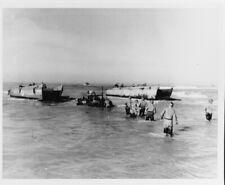 LCVPs from USS Joseph T. Dickman land at Gela Sicily 1943 WWII Photo Print