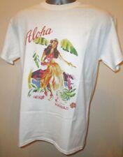 Aloha From Hawaii Retro Dancing Hula Girl T Shirt Waikiki Beach Summer Surf 009