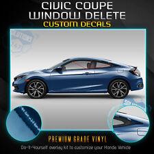 For 2016-2020 Honda Civic Coupe Window Trim Chrome Delete Kit - Chrome Mirror