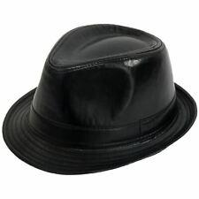 PU pelle stile retrò nero Cappello Borsalino  57cm  6e3f2029db1f