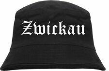 Zwickau Fischerhut - Altdeutsch - Schwarz - hut anglerhut bucket hat sonnenhut