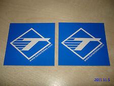 2 AUTHENTIC TURNER BIKES BLUE STICKERS / DECALS / AUFKLEBER