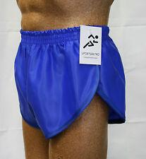 Nylon Glanz Satin SPRINTER Short Small - XXL 70s & 80s Retro Royal Blue
