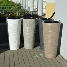 Blumenkübel Pflanzkübel 3D-Effekt Slim Übertopf  Pflanzeinsatz 4 Farben 3 Größen