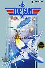 RGC Huge Poster - Top Gun BOX ART Original Nintendo NES - NES056