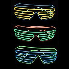 Light Up EL Shutter Shades Nightclub Rave Props Parties