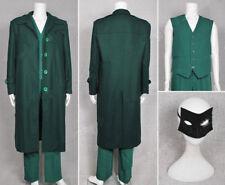 The Green Hornet Cosplay Britt Reid Costume Coat+Vest+Pants+Mask Full Set ;