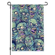 Zombie Pattern Dead Corpses Undead Horror Garden Yard Flag