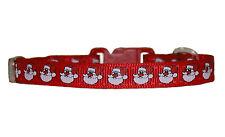 """VERDE rosso """"di Natale Babbo Natale"""" Chihuahua Cane Cucciolo Collare & o piombo"""