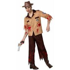 Costume halloween carnevale da Sceriffo Zombie Poliziotto uomo morto casacca
