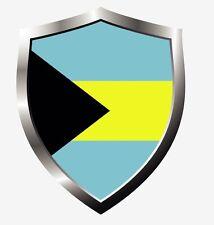 Bahamas country shield flag sticker vinyl decal