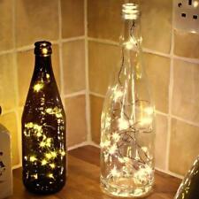 USB Rechargeable 15LED Wine Bottle Cork Night Light String Party Decor 1.5M