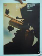 ORIGINAL POSTER  MONTREAL 1976 OLYMPIC : SHOOTING