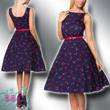 Rockabilly Kleid 34-42 Vintage Retro 50er Jahre Blumen Muster Sommer 14735-45