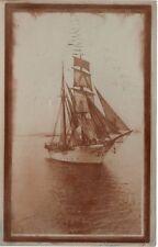 Antique REAL PHOTO POSTCARD c1907 Navy Training Ship Boyer Boxer John Stannard