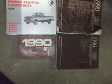 1990 Ford F-150 250 350 Econoline Bronco Truck Service Shop Repair Manual Set