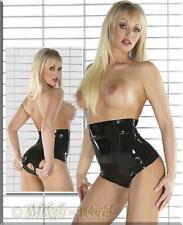 S-affilato lattice in vita-Slip aperto elegante Erotico Dessous Biancheria Intima Elegante
