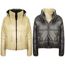 Girls Jackets Kids Stone Reversible Cropped Hooded Padded Puffer Jacket Coat5-13