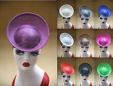 Plato Cambray Redondo sinamay Inspirado percher Sombrero diadema Sombrerería