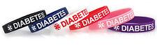 Diabetes Silicone Bracelet Set of 3 - Kids & Adult - 2 Color Choices