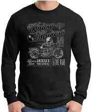 WIDOW MAKERS M/C Long Sleeve T-Shirt ~ Indian Skull Biker Tee ~ Motorcycle
