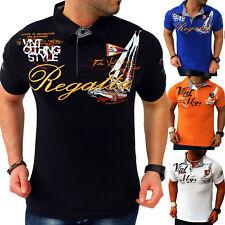 Polo Maglietta Uomo T-Shirt Colletto Camicia a Manica Corta Slim Fit M-4XL Nuovo