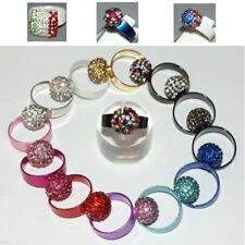 Ring STYLE SHAMBALLA Ball RHINESTONE Disco size ADJUSTABLE color choice