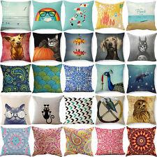18'' Bohemian Geometric  Linen Pillow Case  Vintage Cushion Cover Home Decor