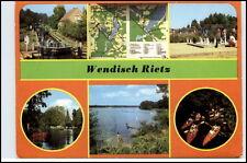 Wendish-Rietz KR. beeskow DDR AK etc. Lock, Hussars Bay, channel glubigsee
