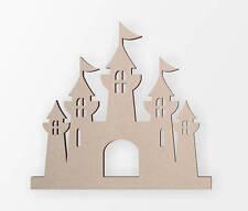 Wooden Shape Princess Castle, Wooden Cut Out, Wall Art, Home Decor, Wall Hanging