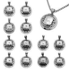 Horoscope Pendentif de Chaîne Collier Acier Inoxydable Argent Signes Du Zodiaque