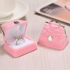 Creative Velvet Handbag Purse Ring Jewelry Display Coin Storage Box Gift Case