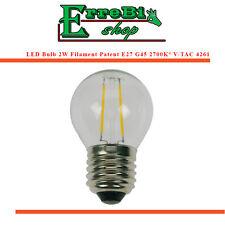 BOMBILLA LÁMPARA A FILAMENTO LED E27 G45 2W 2700K° LUZ 180LM BRILLO V-TAC 4261