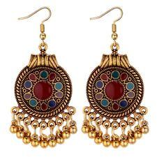2018 Vintage Drop Dangle Beads Tassel Earrings For Women Bohemian Enamel Jewelry