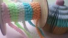 Cute 5mm Pom Pom Trim, Bobble Ribbon, Sweet Baby Pastel Colour, Craft, Cushion