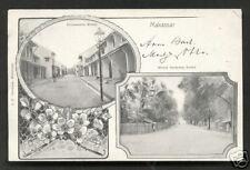Makassar Art Nouveau 2 views Celebes Indonesia ca 1899