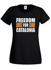T-shirt Maglietta donna J2273 Freedom For Catalonia Catalogna Bandiera Catalunya