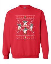 Bling Dance Telephone Music Song Parody Ugly Christmas DT Crewneck Sweatshirt