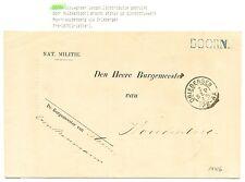 NEDERLAND 1875 DIENST KAART  =DOORN= VIA DRIEBERGEN NAAR WOUDENBERG  VW PR EX