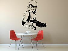STAR Wars Storm Trooper Film Cool Ragazzi Ragazze Bambini Adesivo Decalcomania parete di casa FI11
