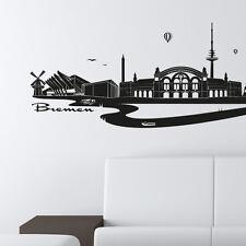 Skyline Bremen als Wandtattoo Wandaufkleber Wanddeko Aufkleber von Wandkings