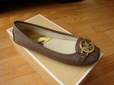 NIB Women Michael Kors Fulton Moc Saffiano Leather Flat Shoes Cinder Sizes 7-8