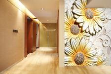 FIORI 3D in rilievo modello di Carta Stampa Muro Decalcomania Della Parete Muro Deco INDOOR Murales