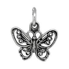 Pendant Oxidized Jewelry Silver Butterfly Charm