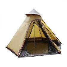 UNI 10ft Double Door Waterproof Mesh Teepee Camping Tipi Family Tent Lightweight