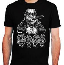 BOSS T-Shirt Mens S-2XL Funny gangster cigar money skater rock grunge indie