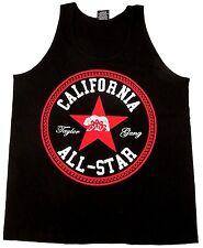 CALIFORNIA ALL STAR Tank Top T-shirt Cali Bear Paisley Adult S-3XL Black New