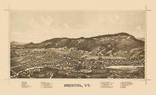Panoramic Print - Bristol Vermont - Norris 1889 - 23 x 37.60